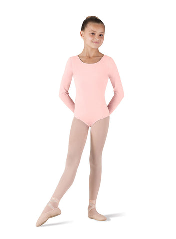 Child Basic Long Sleeve Leotard (Light Pink) CL5409 - Dancer's Wardrobe