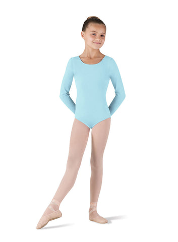 Child Basic Long Sleeve Leotard (Pastel Blue) CL5409 - Dancer's Wardrobe