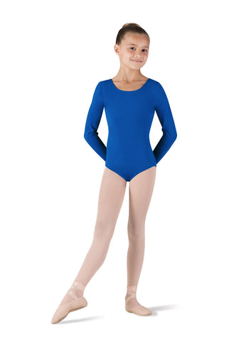 Child Basic Long Sleeve Leotard (Royal) CL5409 - Dancer's Wardrobe