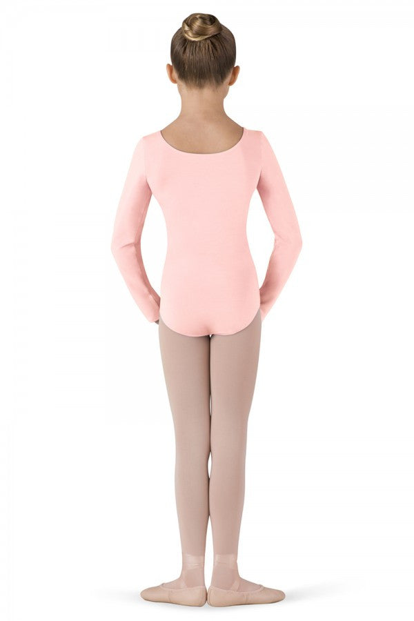 Child Basic Long Sleeve Leotard (Light Pink) - Dancer's Wardrobe