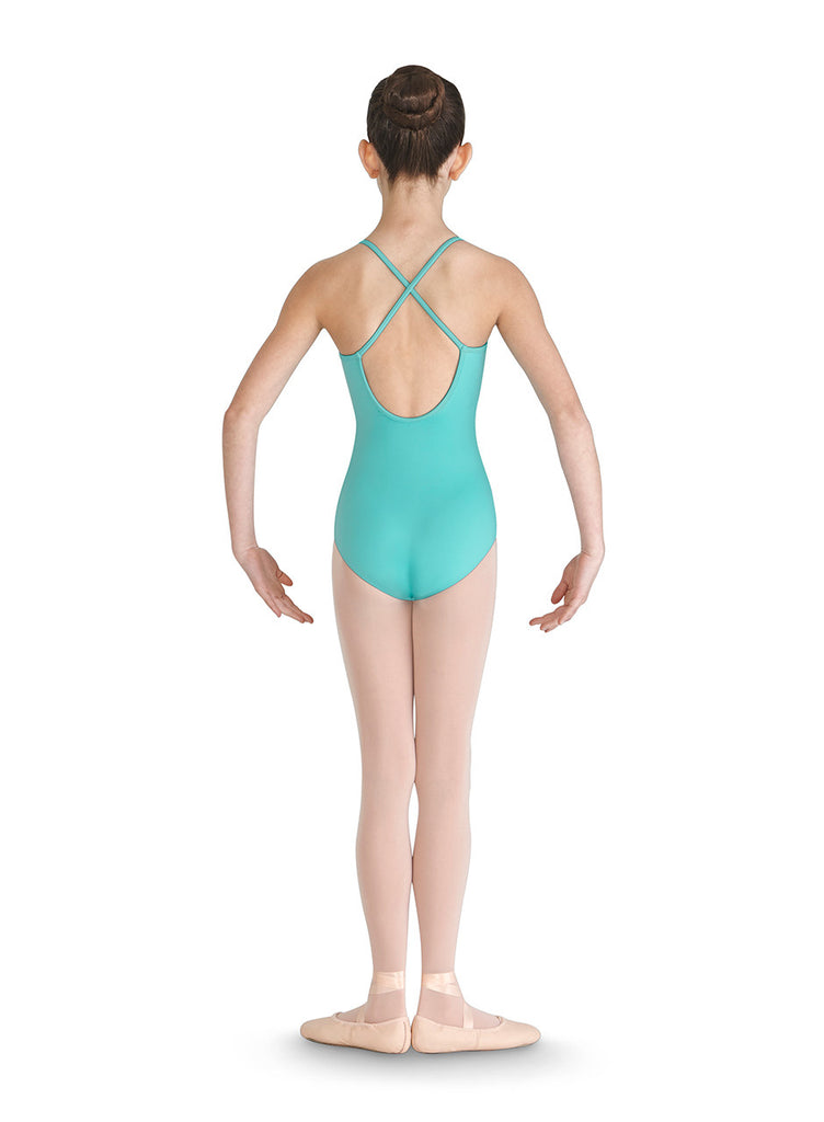Child Clover Mesh Front Wrap Leotard - Dancer's Wardrobe