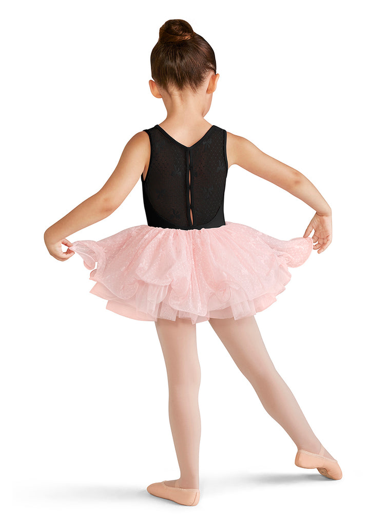 Child Mesh Back Tank Leotard CL9555 Bloch (Black)