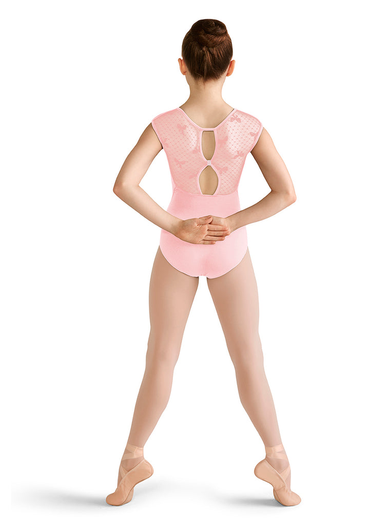 Child Mesh Back Cap Sleeve Leotard CL9582 Bloch (Candy Pink, Lilac)