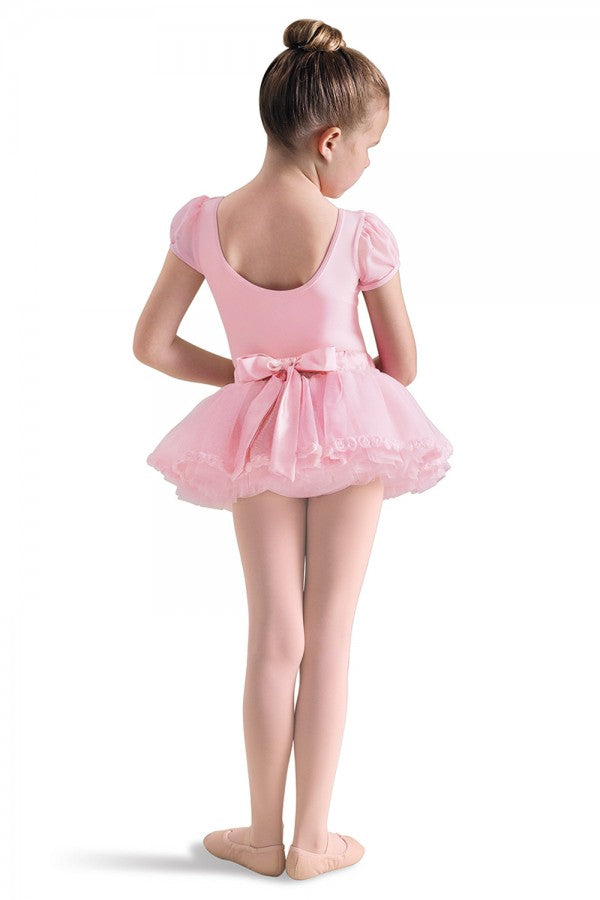 Child Satin Waist Bow Tutu Skirt, Candy Pink, CR4061