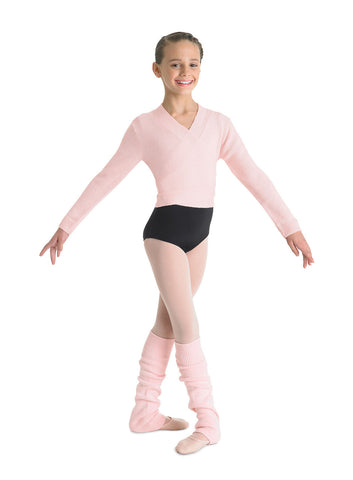 Child Wrap Sweater (Pink) CZ0999 - Dancer's Wardrobe