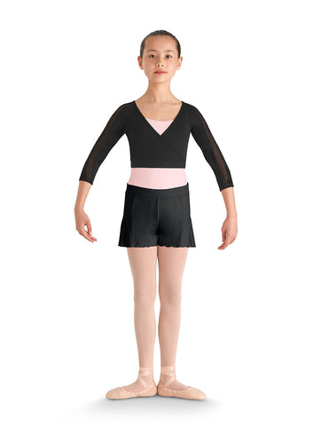 Courtier Wrap Jr. (Black) - Dancer's Wardrobe