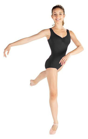 Adult Tank Leotard with Front Pink D7500 - Dancer's Wardrobe