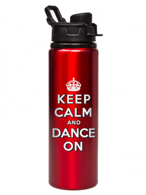 Keep Calm & Dance On Water Bottle D6934 - Dancer's Wardrobe