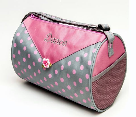 Stylish Pink/Gray Small Duffel - Dancer's Wardrobe