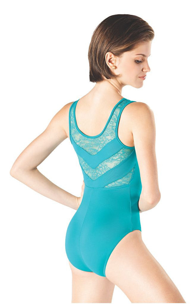 Adult Tank Leotard with Lace L-752 - Dancer's Wardrobe