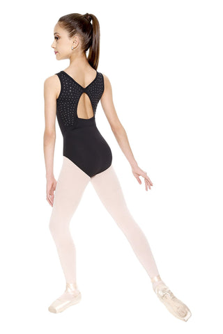 "Child ""Jenna"" Leotard (Black) L-1221ME - Dancer's Wardrobe"