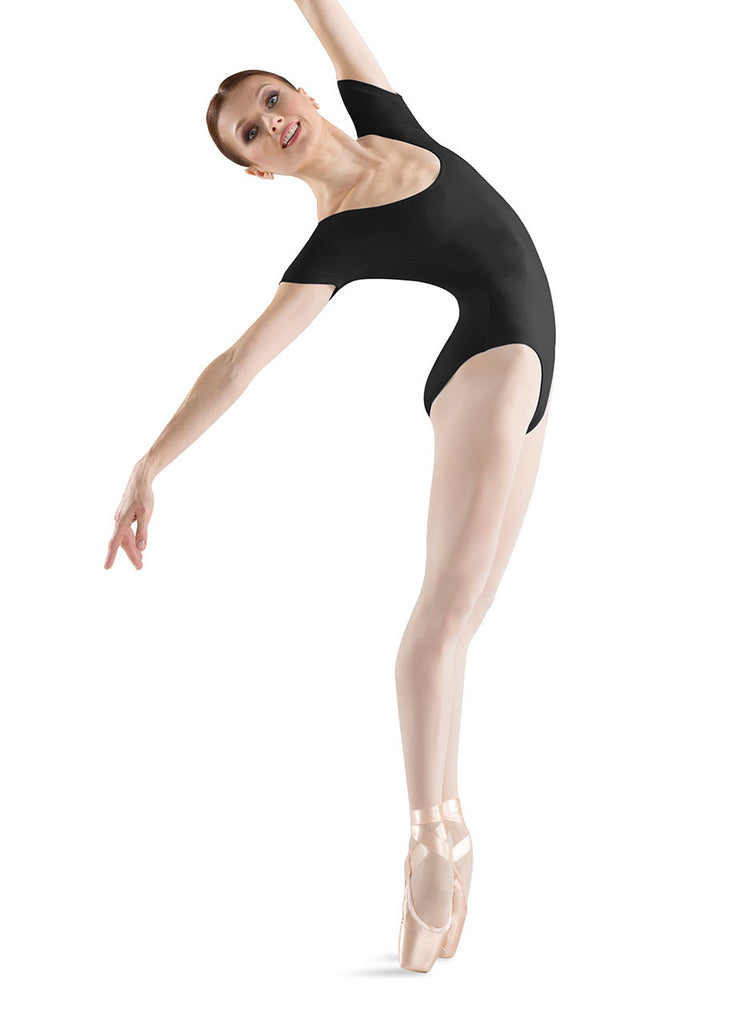 Adult Basic Short Sleeve Leotard (Black) L5402 - Dancer's Wardrobe