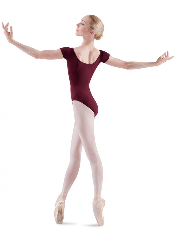 Adult Basic Short Sleeve Leotard (Burgundy) L5402 - Dancer's Wardrobe