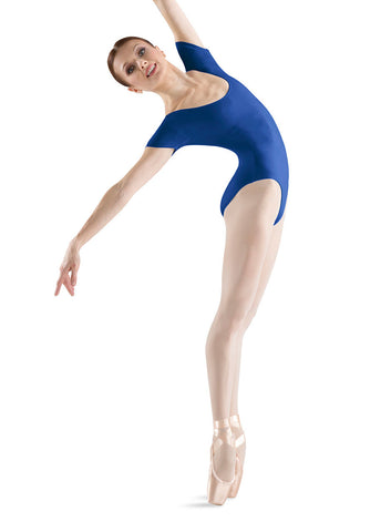 Adult Basic Short Sleeve Leotard (Royal) L5402 - Dancer's Wardrobe