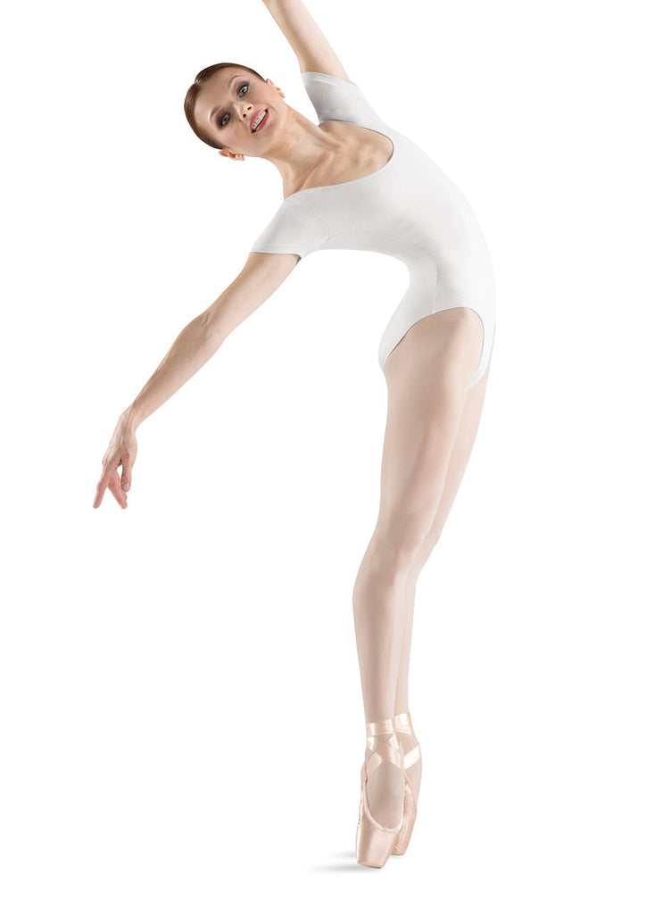 Adult Basic Short Sleeve Leotard (White) L5402 - Dancer's Wardrobe