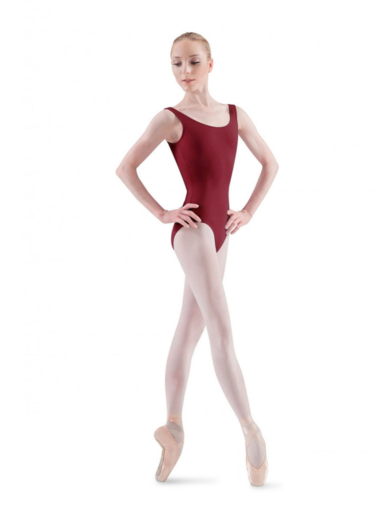 Adult Basic Tank Leotard (Burgundy) - Dancer's Wardrobe
