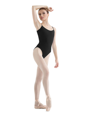 Adult Camisole Leotard (Black) - Dancer's Wardrobe