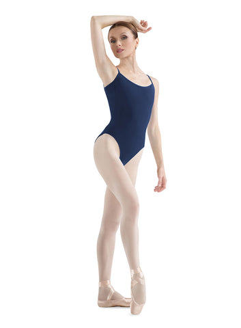 V Back Camisole Leotard (Navy) - Dancer's Wardrobe