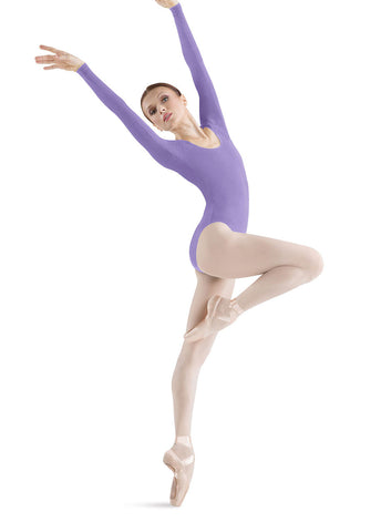 Adult Long Sleeve Leotard (Lavender) - Dancer's Wardrobe
