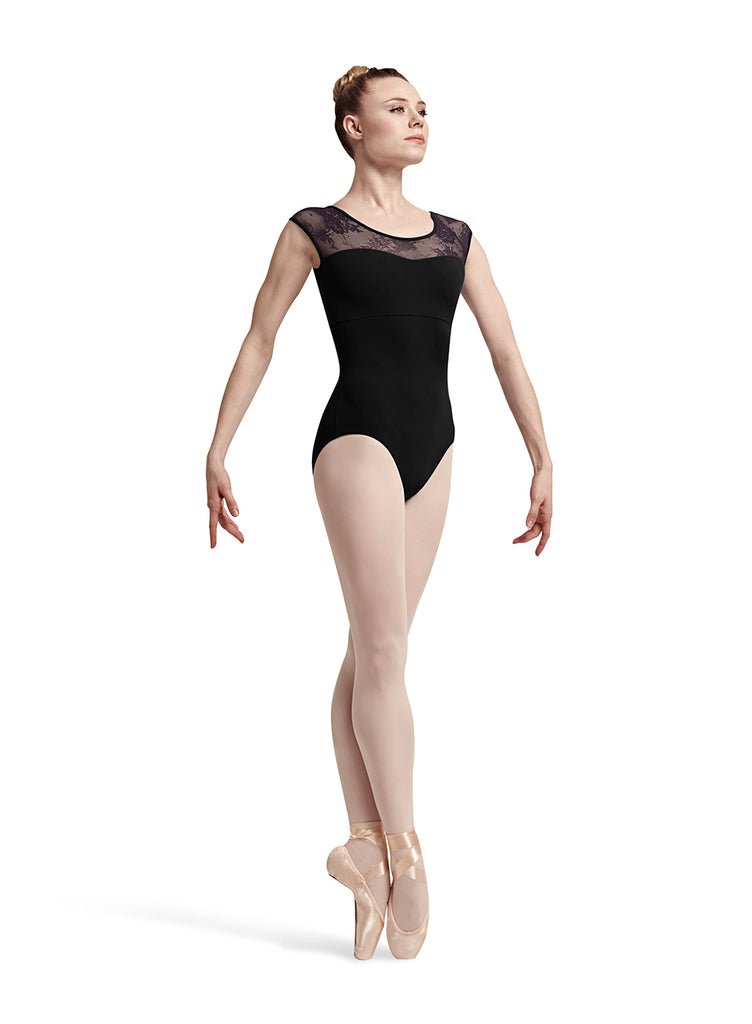 Adult Lace and Rib Leo L7714 Bloch (Black)