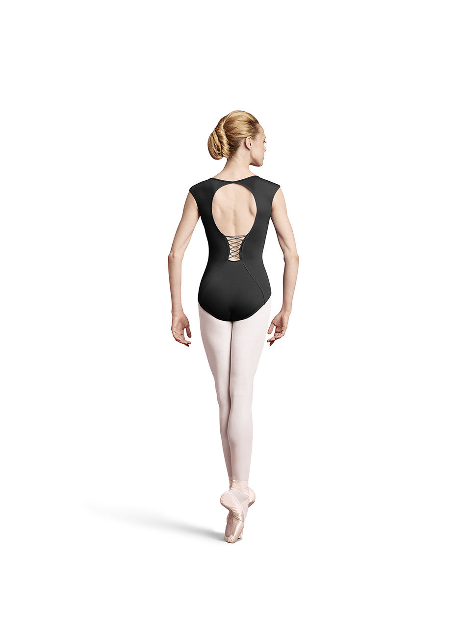 a21c93f2be54c Adult Corset Back Hour Glass Cap Sleeve Leo L8912 Black – Dancer's Wardrobe