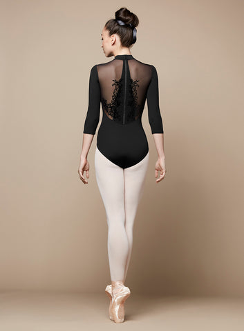 """Faye"" Zip Back 3/4 Sleeve Leotard L9809 - Adult Size Small"