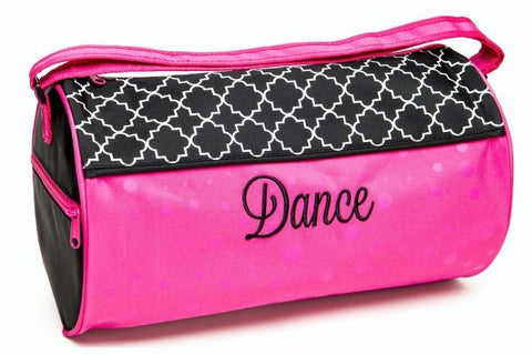 Bold & Beautifully printed lattice pattern Duffle Bag - Dancer's Wardrobe