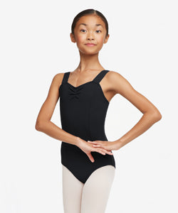 Adult Wide Strap Cami Leotard TC0053W Capezio (Dark Purple, Black )