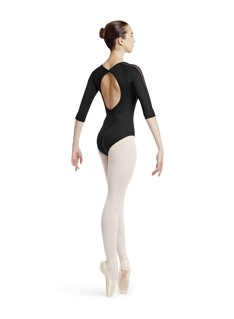 Stretch Lace 3/4 Sleeve Leotard - Dancer's Wardrobe
