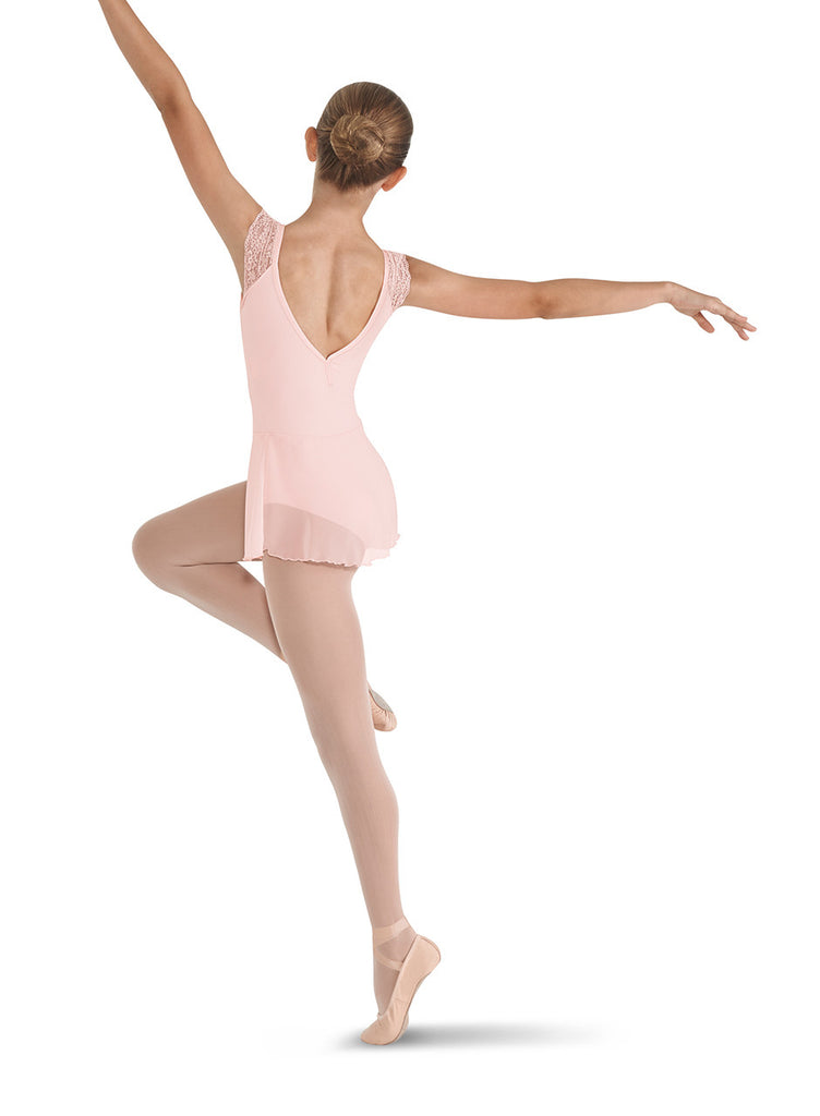 Lace Shoulder Skirted Leotard - Dancer's Wardrobe