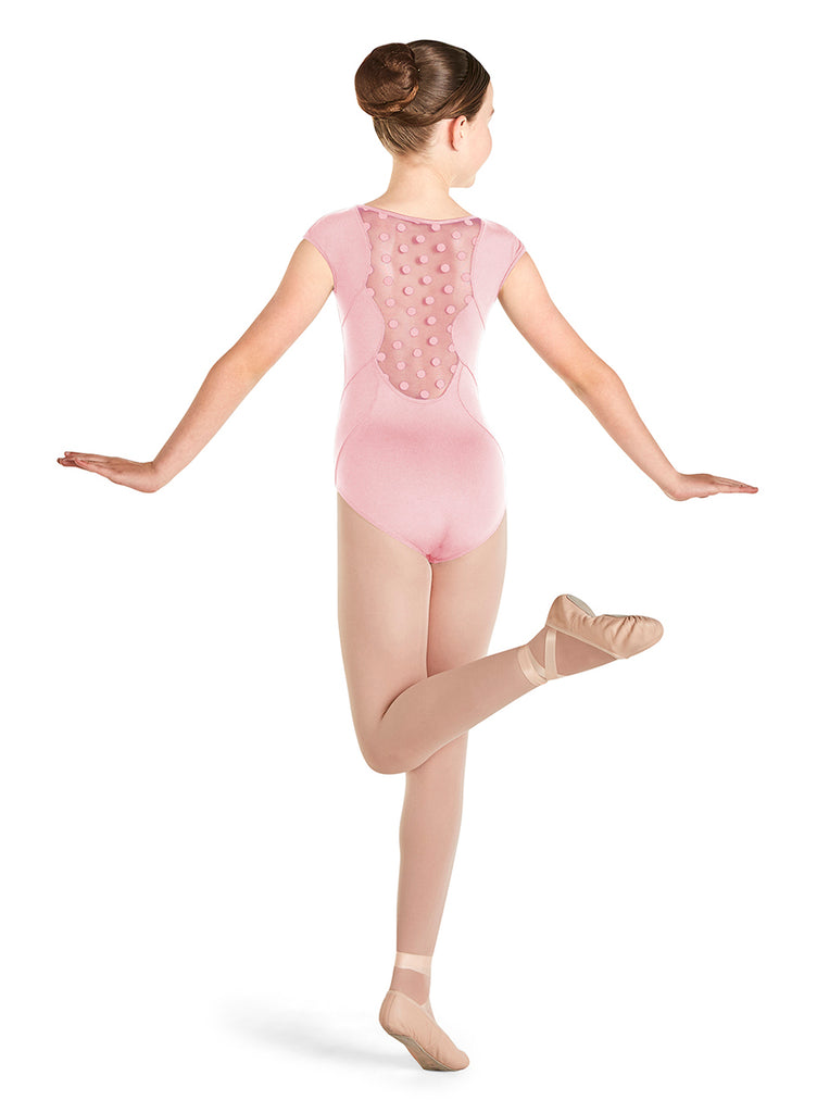 Scallop Back Cap Sleeve Leotard - Pink