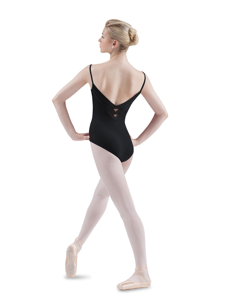 Chevron Deep V Cami Leotard by Mirella - Dancer's Wardrobe