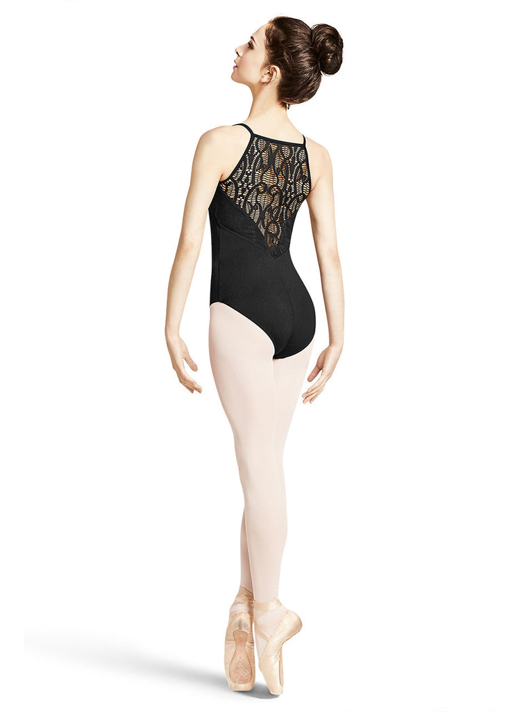 Adult Crochet Lace Cami Leotard M2133LM Black