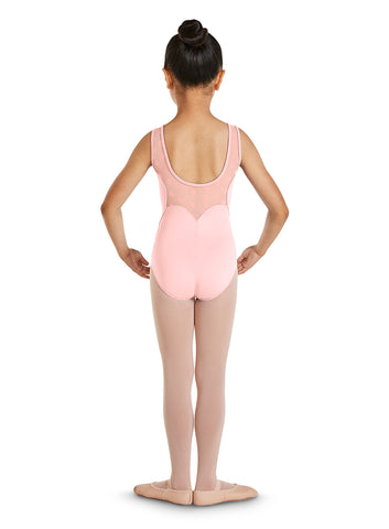 Scallop Back Tank Leotard - Child Size 4/6, Pink