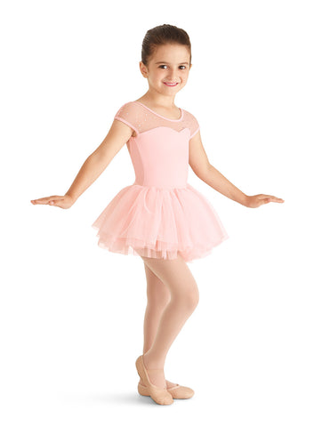 Child Poof Cap Sleeve Tutu Leo M421C Mirella PINK
