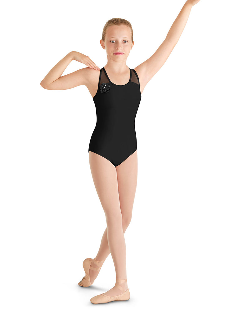 Child Loop Back Tank Leotard M436C Black