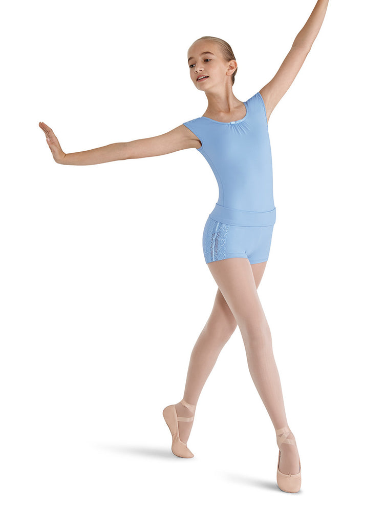 Lace Shoulder Cap Sleeve Leotard - Dancer's Wardrobe