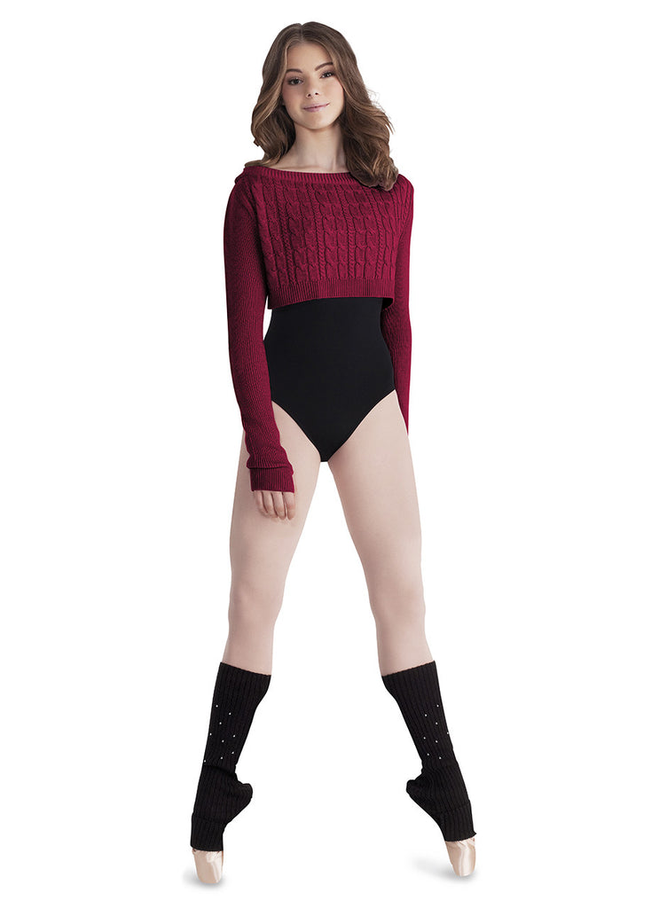 Cable Knit Crop Top - Dancer's Wardrobe