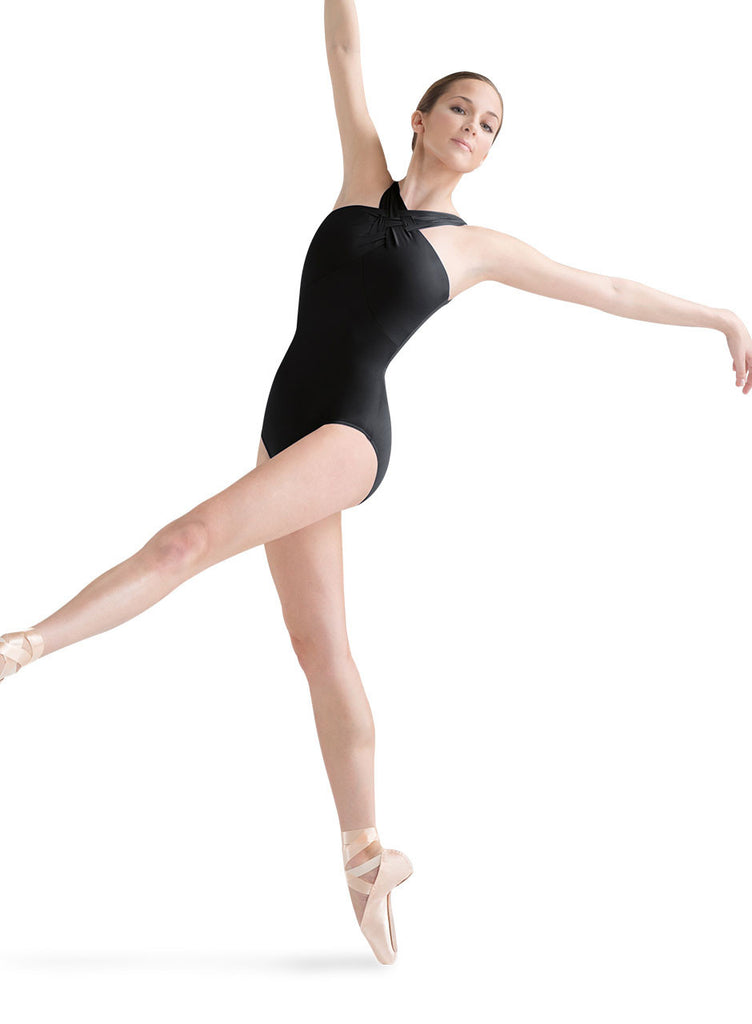 Detailed Front Camisole Leotard (Black) - Dancer's Wardrobe