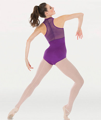 Child Tyler Peck Power Mesh Zip Front Leotard Bodywrappers P1002 - Dancer's Wardrobe