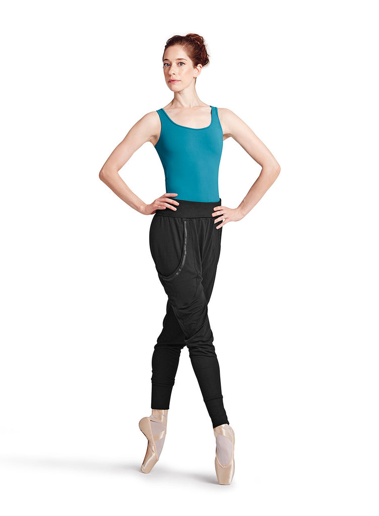 Elastic Tape Harem Pant (Adult) (Black) - Dancer's Wardrobe