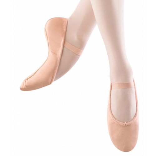 Child Dansoft Full Sole Leather Ballet Slipper (Pink) S0205G - Dancer's Wardrobe