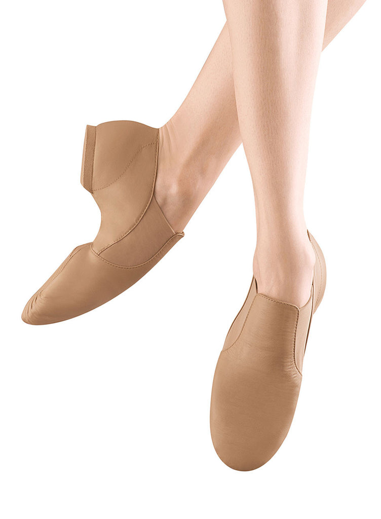 Elastabootie Jazz Shoe (Tan) S0499L - Dancer's Wardrobe