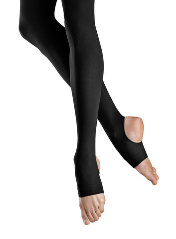 Ladies Stirrup Tights (Black) - Dancer's Wardrobe