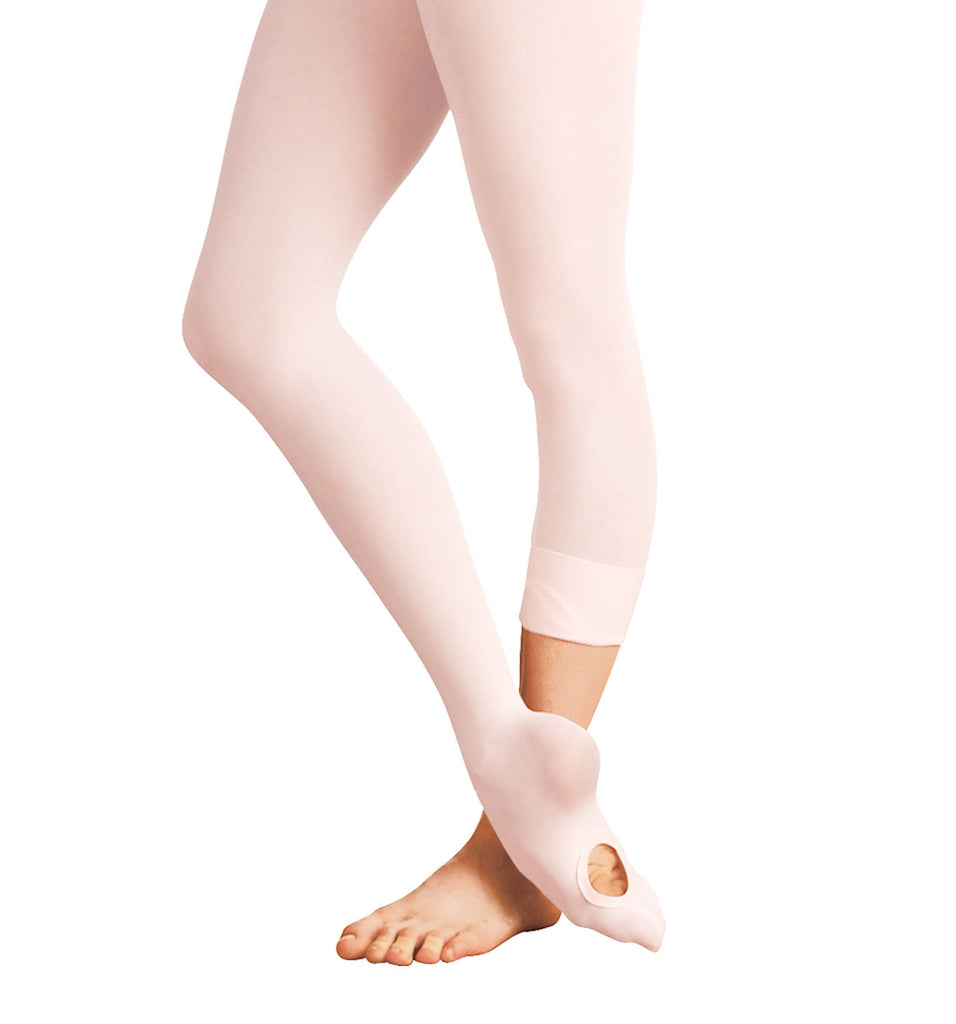 Adult Total Stretch Convertible Tights (Theatrical Pink) - Dancer's Wardrobe