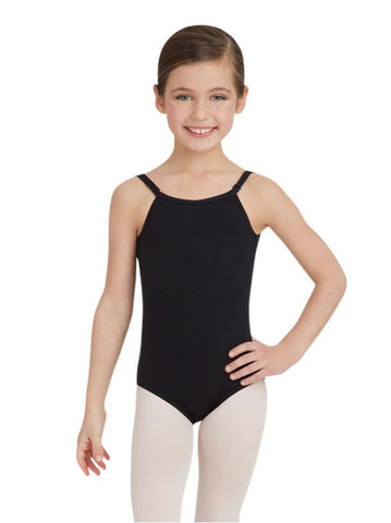 Child Camisole Leotard w/ Adjustable Straps - Black