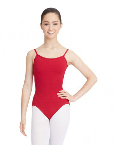 Adult Camisole Leotard with Adjustable Straps (Garnet) - Dancer's Wardrobe