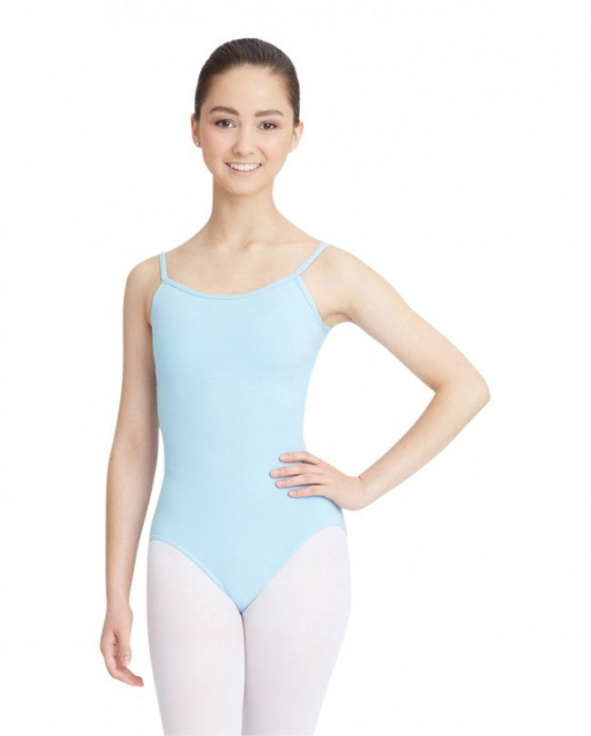 Adult Camisole Leotard with Adjustable Straps (Light Blue) - Dancer's Wardrobe