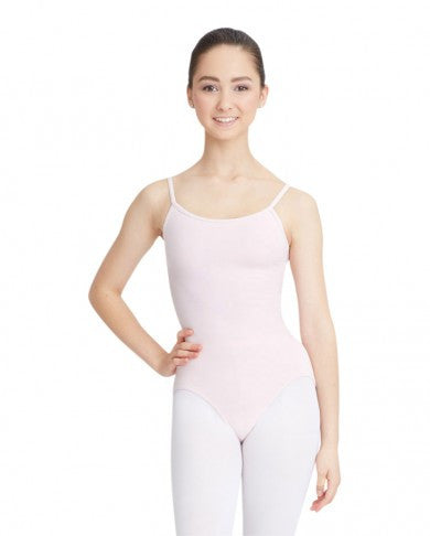 Adult Camisole Leotard with Adjustable Straps (Pink) - Dancer's Wardrobe