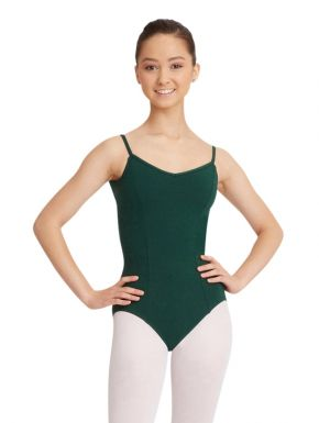 Princess Seam Camisole Leotard CC101 Hunter Green - Sizes Adult X-Small & Medium